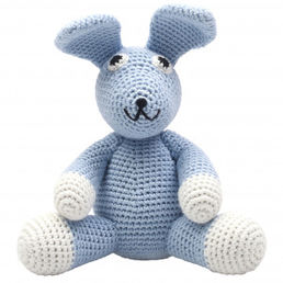 XL Pehmolelu, Sir Rabbit (light blue)