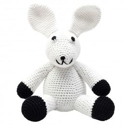 Pehmolelu, Mr Rabbit (white&black)