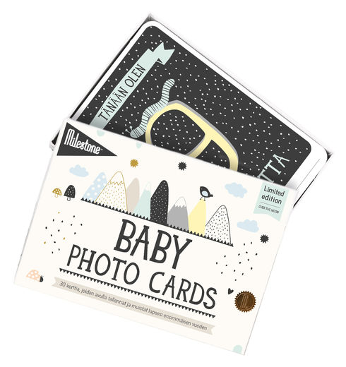 Milestone Baby Cards Over The Moon - EN