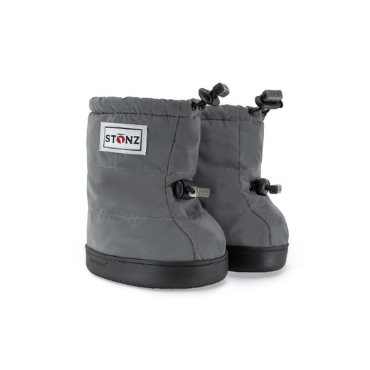 Puffer Booties - Reflective Silver PLUSfoam / M-XL